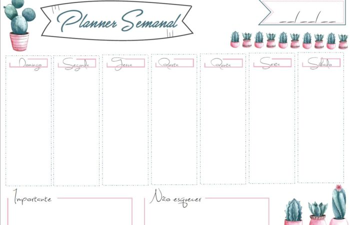 KIT DIGITAL: Planner Semanal